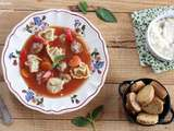 Soupe italienne aux tortellinis
