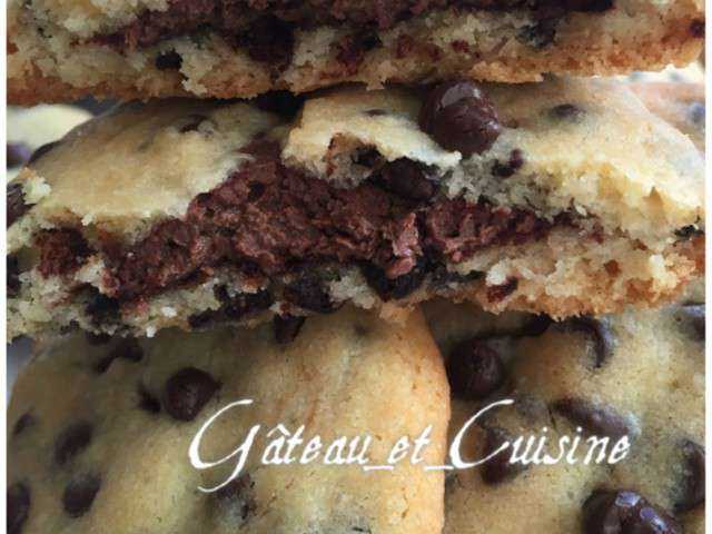 Recettes de nutella de gateau et cuisine - Recette de cookies au nutella ...