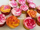 Cupcakes vanille topping chantilly mascarpone aux mures