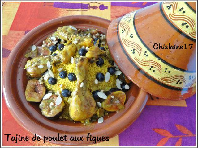 recettes de tajine de poulet et figues. Black Bedroom Furniture Sets. Home Design Ideas