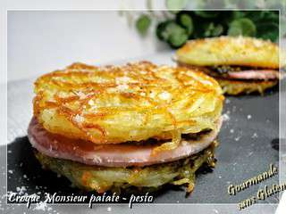 Croque-monsieur patate au pesto