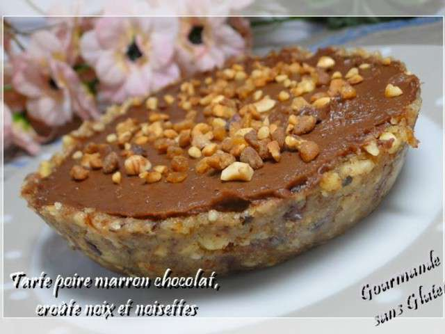 Recettes de sans cuisson et patisserie - Tarte poire chocolat sans oeuf ...
