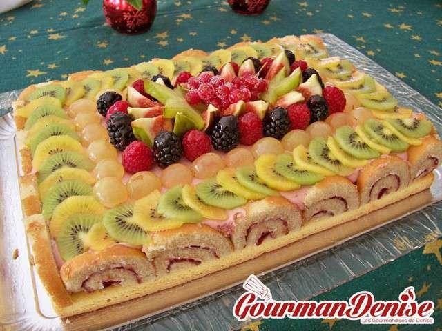 Recettes de mousse de framboise et g teaux - Decoration de gateau avec des fruits ...