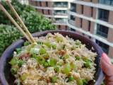Fried rice. Basmati rice leftovers turned into a simple,