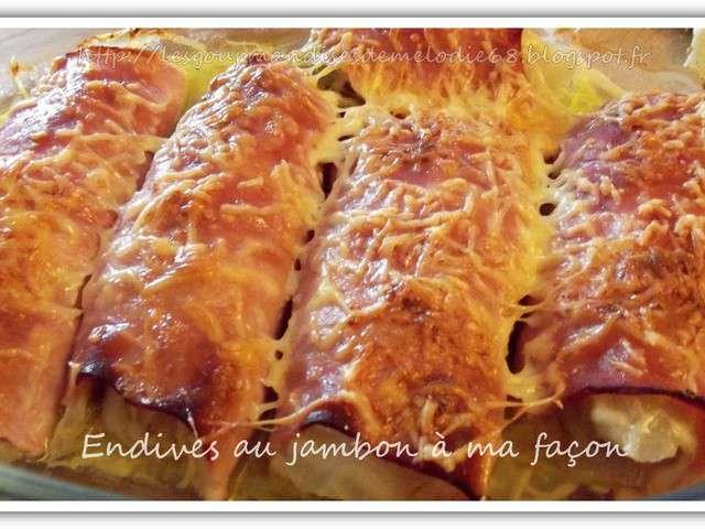 Recettes d 39 endives au jambon et plats - Recette endives au jambon ...