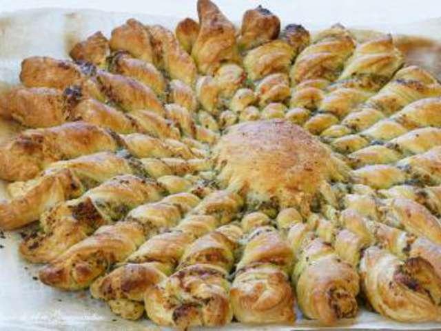 Recettes de pesto et tartes - Tarte soleil jambon cru ...
