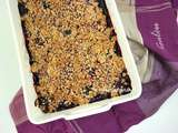 Crumble de fruits rouges au beurre de cacahuète #vegan