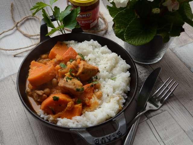 Recettes de curry rouge et patate douce - Recette poulet patate douce ...
