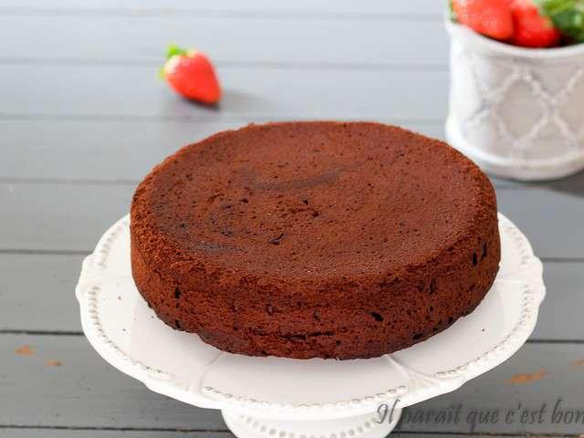 Sponge Cake Chocolat Pate A Sucre Ganache
