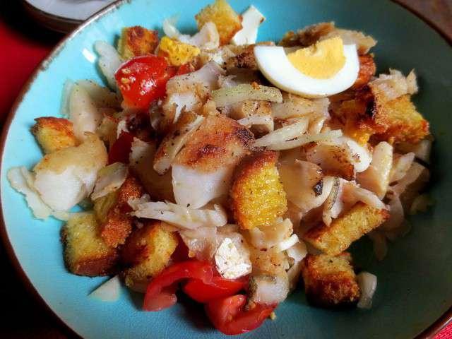 Recettes de salade de morue - Cuisiner la morue dessalee ...