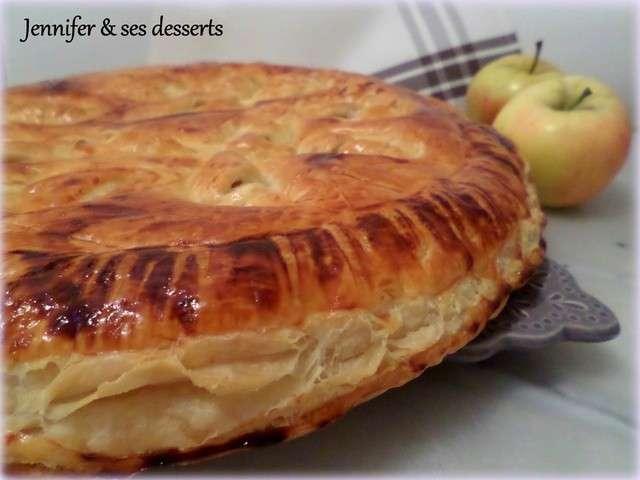 Recettes de frangipane de jennifer ses desserts - Feuillete aux pommes caramelisees ...