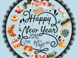 Happy new year 2018 from Julie Myrtille Bakery
