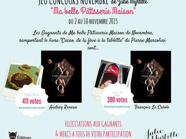 Resultats Du Jeu Concours Novembre Julie Myrtille Ma Belle