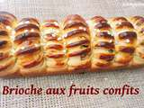 Brioche aux fruits confits