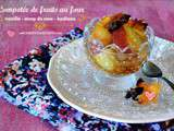 Compotee fruits – Recette fruits au four sirop rose Jamie Oliver