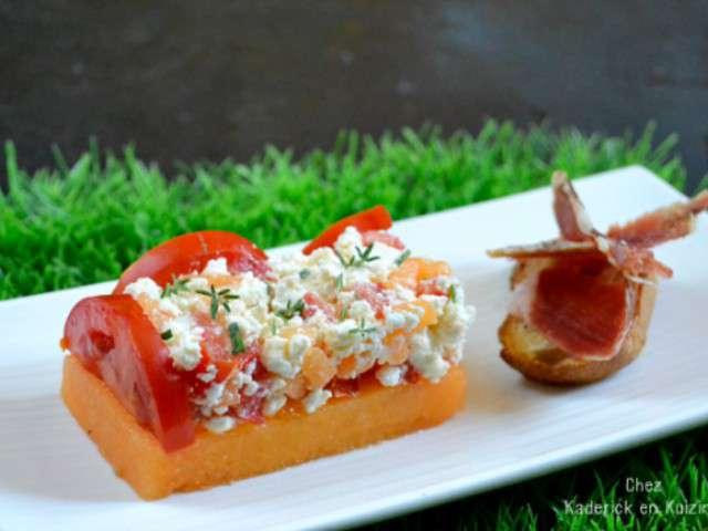 Recettes de melon et tomates 2 for Entree estivale