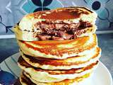 Pancakes coeur coulant Nutella
