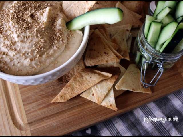 Recettes de houmous et haricots - Houmous recette sans tahini ...
