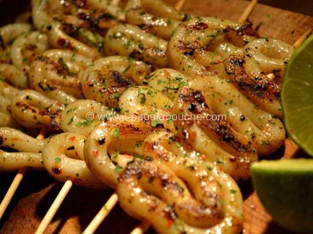 Recettes de calamars et citrons - Recette calamar grille barbecue ...