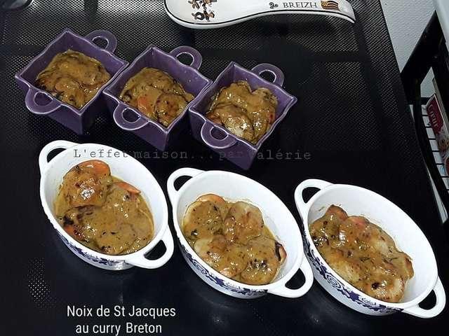 Recettes de l 39 effet maison par val rie - Saint jacques au curry ...