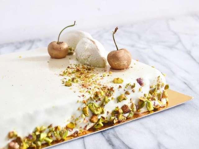 Recettes de gla age et pistache for Glacage miroir blanc