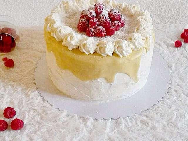 Layer Cake Fraboise Chocolat Blanc Noix De Coco