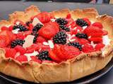 Tarte litchis et fruits rouge