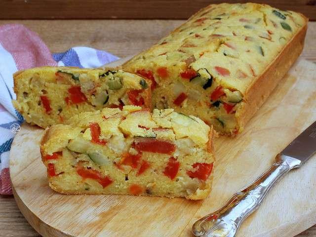 Recettes de cake sal et cuisine sans lait - Recette cake sale vegetarien ...