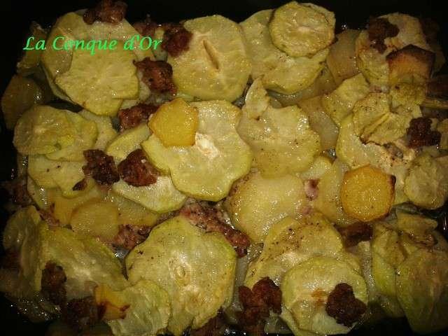 Recettes de pomme de terre et saucisse 8 - Pommes de terre a la braise ...