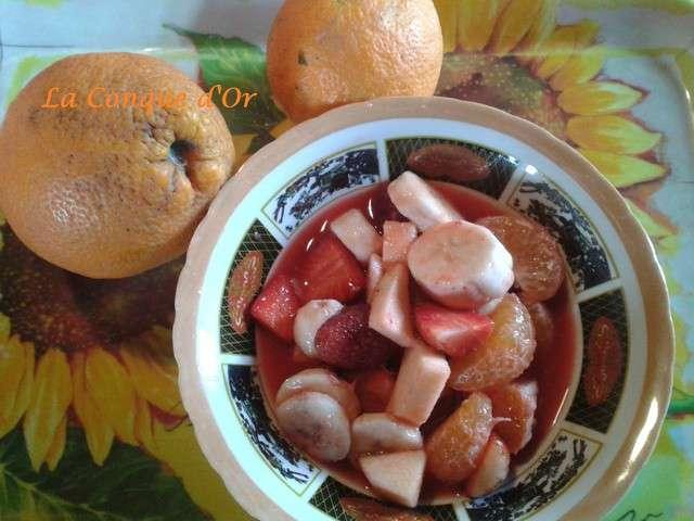 recettes de salade de fruits et orange. Black Bedroom Furniture Sets. Home Design Ideas