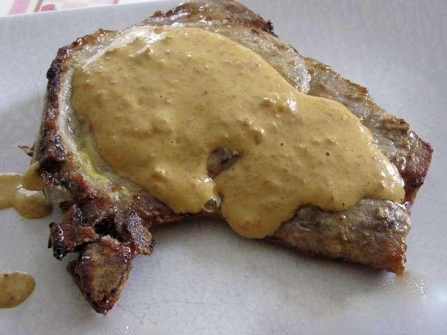 Recettes de c te de porc et sauces - Cote de porc a la moutarde au four ...