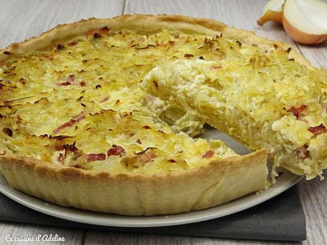 Recettes de tarte l 39 oignon de la cuisine d 39 adeline for L officiel de la cuisine
