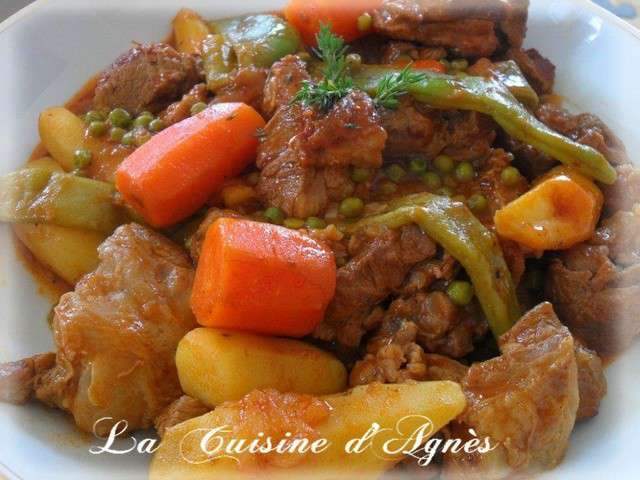 Recettes de haricots plats et pomme de terre for Tableau temps de sterilisation plats cuisines