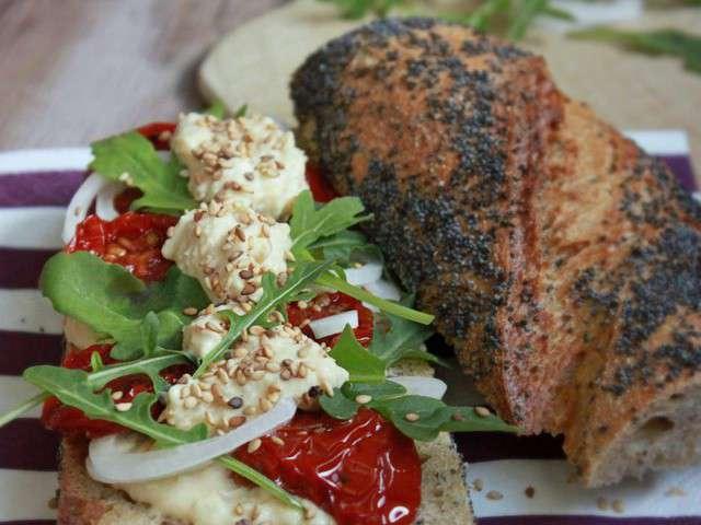 Recettes de baguette et tomates - Recette sandwich froid baguette ...