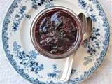Confiture de quetsches au vin rouge