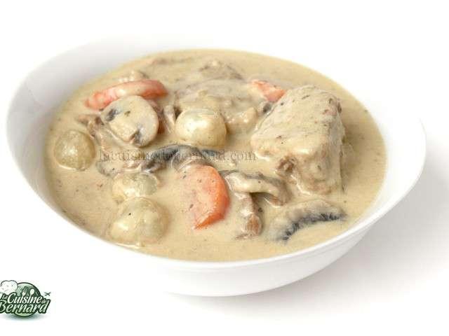 Recettes de blanquette de veau de la cuisine de bernard for Cuisine bernard