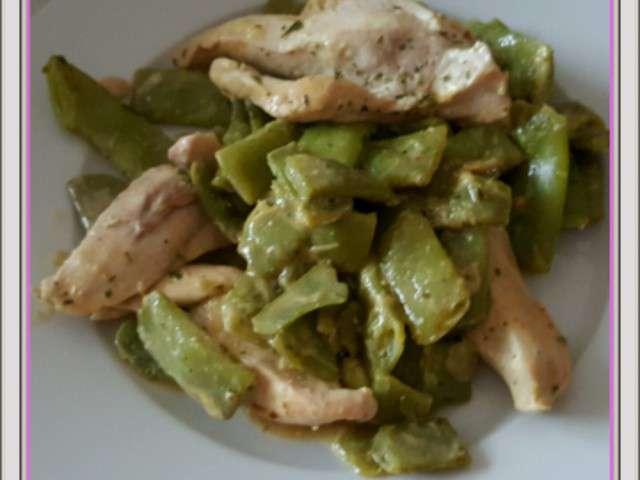 Recettes de haricots plats et poulet - Blog recette de cuisine asiatique ...