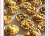 Mini quiches de poulet au curry