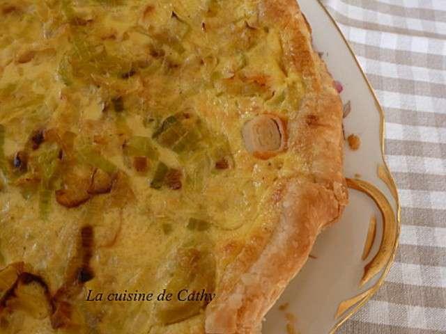 Recettes de tarte sal es 27 - Tarte aux poireaux sans creme ...