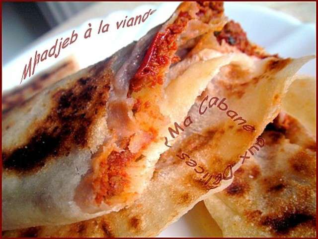 Recettes de mhadjeb algerien for La cuisine x le creuset