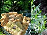 Crackers aux olives, estragon et piment d'Espelette