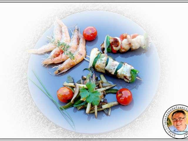 Recettes de brochettes la plancha - La cuisine a la plancha ...