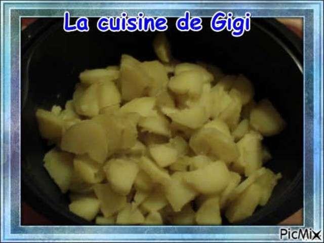 Recettes de salades et pomme de terre 25 - Salade pomme de terre saumon fume ...