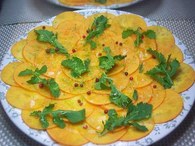 Recettes de kaki et carpaccio for Cuisine kaki