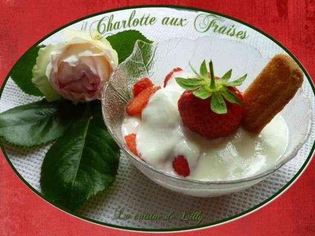 Recettes de charlotte aux fraises de la cuisine de lilly for Aux beaux rivages la cuisine
