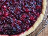 Tarte aux cranberries
