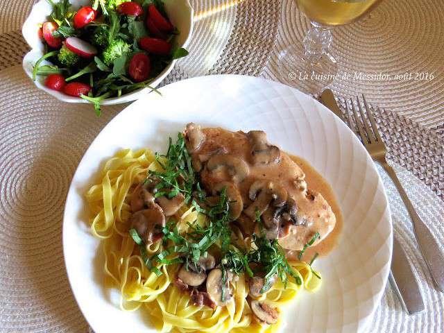 Recettes d 39 escalopes de poulet et sauces for Marinade poulet huile d olive