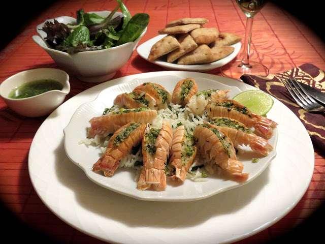 Recettes de langoustines de la cuisine de messidor for La cuisine au beurre