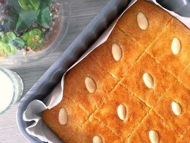 Recettes de basboussa et amande for Amour de cuisine basboussa