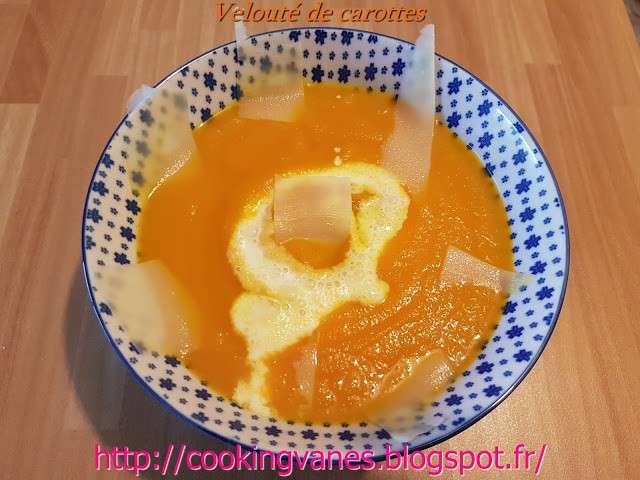 recettes de velout 233 de la cuisine de mimi